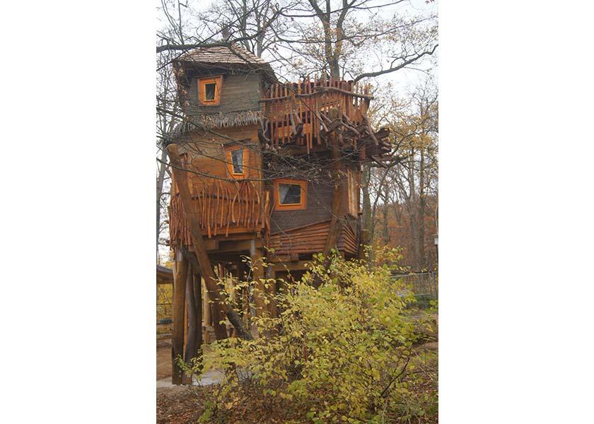 Im neuen Baumhaus im Schweriner Zoo kann jetzt auch übernachtet werden.