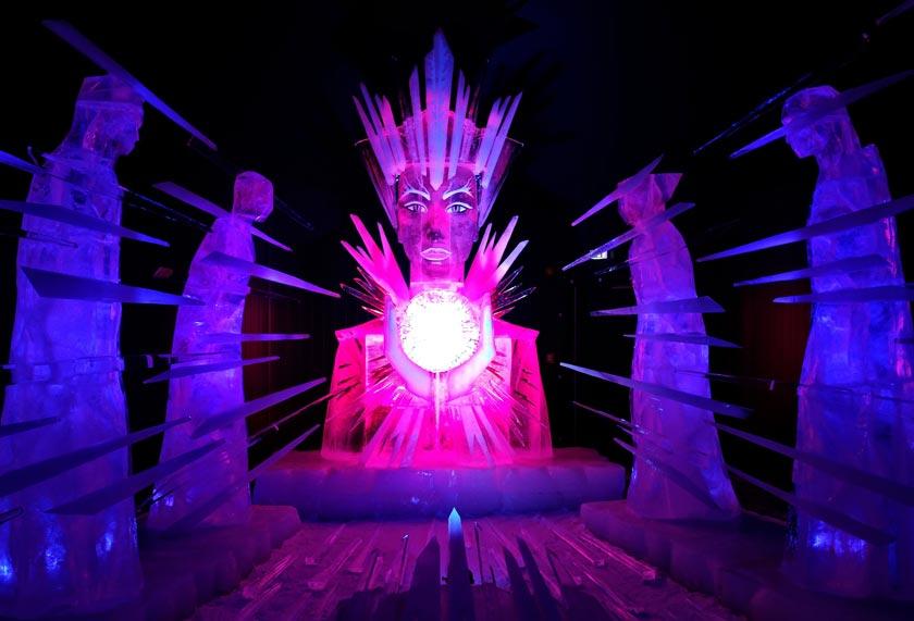 Die Eisfigurenaustellung 2014 findet in Karls Erlebnis-Dorf in Rövershagen bei Rostock statt.