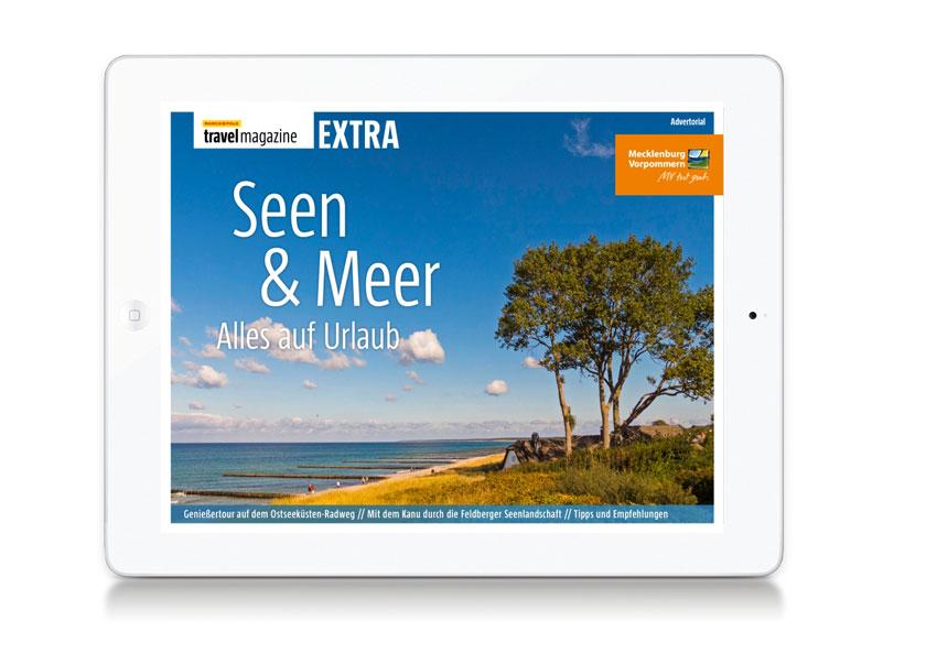 Das neue elektronische Urlaubsmagazin Seen & Meer für Mecklenburg-Vorpommern.