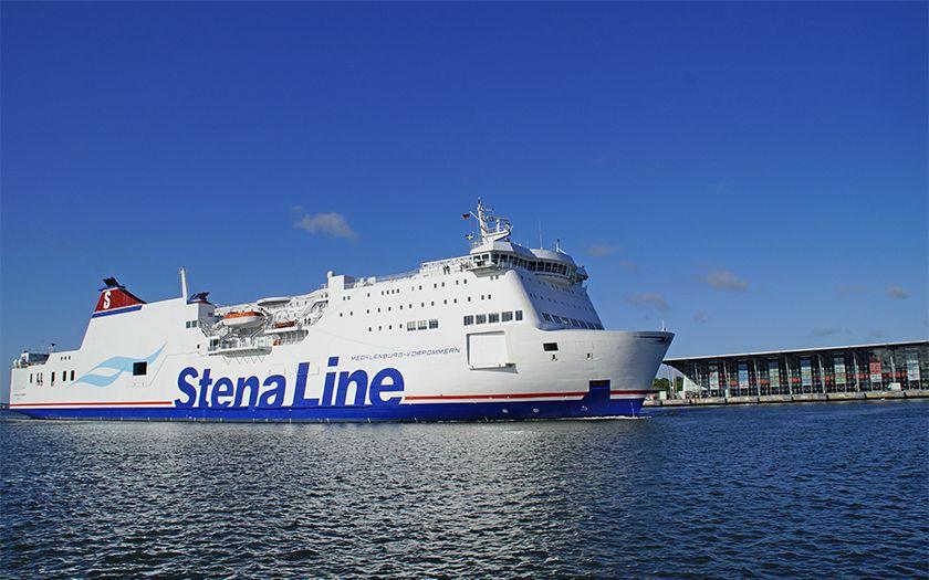 Die Fähre Mecklenburg-Vorpommern von Stena Line auf dem Weg von Rostock nach Trelleborg.