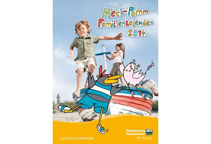 Der neue Familienkalender 2014 enthält viele Informationen für den nächsten Familienurlaub.