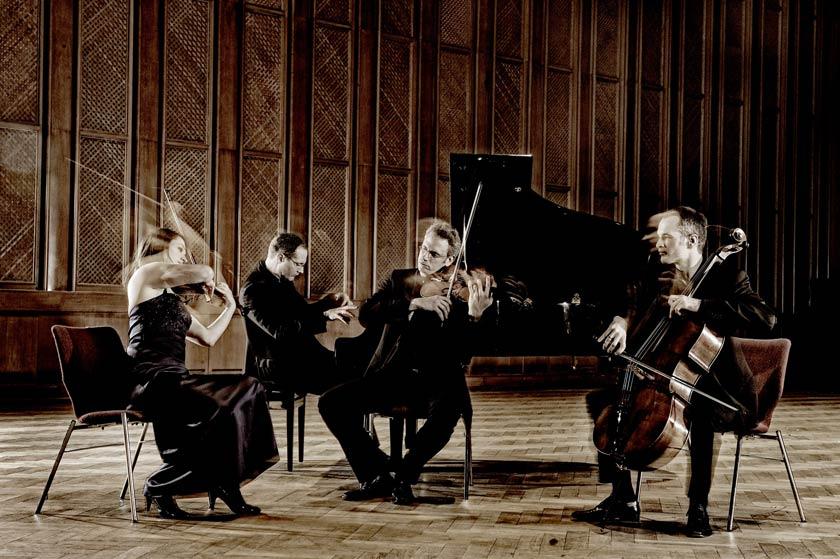 Das Faure Quartett bei einem seiner vielen Konzerte.