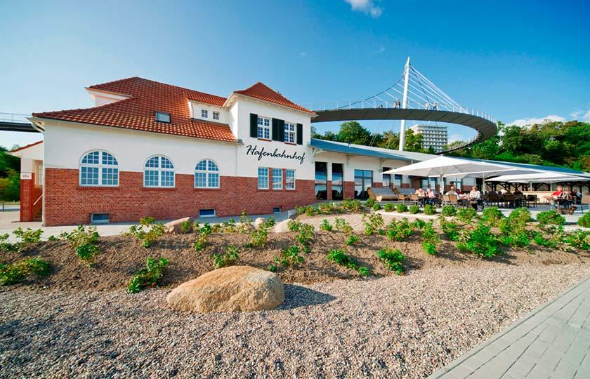 Der Hafenbahnhof in Sassnitz auf der Insel Rügen ist Gastgeber für das erste Kinderkonzert im Rahmen des Festspielfrühlings Rügen.