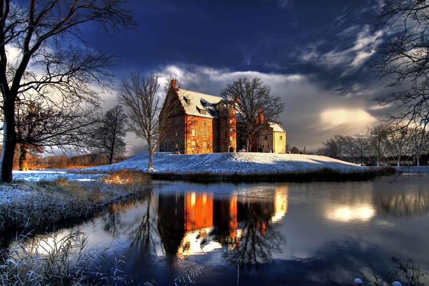 Das Schloss Ulrichshusen ist auch in der Weihnachtszeit schön anzusehen.