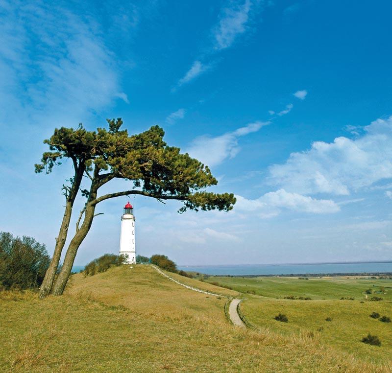 Dornbusch auf der Insel Hiddensee ist 2013 der sonnigste Ort Deutschlands.