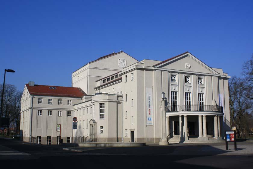 Das Theater in Stralsund ist eine der Spielstätten vom Theater Vorpommern