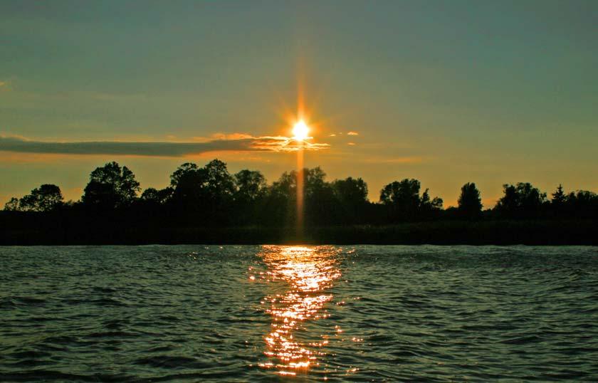 Vom neuen Yoga-Zentrum in Trassenheide auf der Insel Usedom lassen sich auch schöne Sonnenuntergänge beobachten.