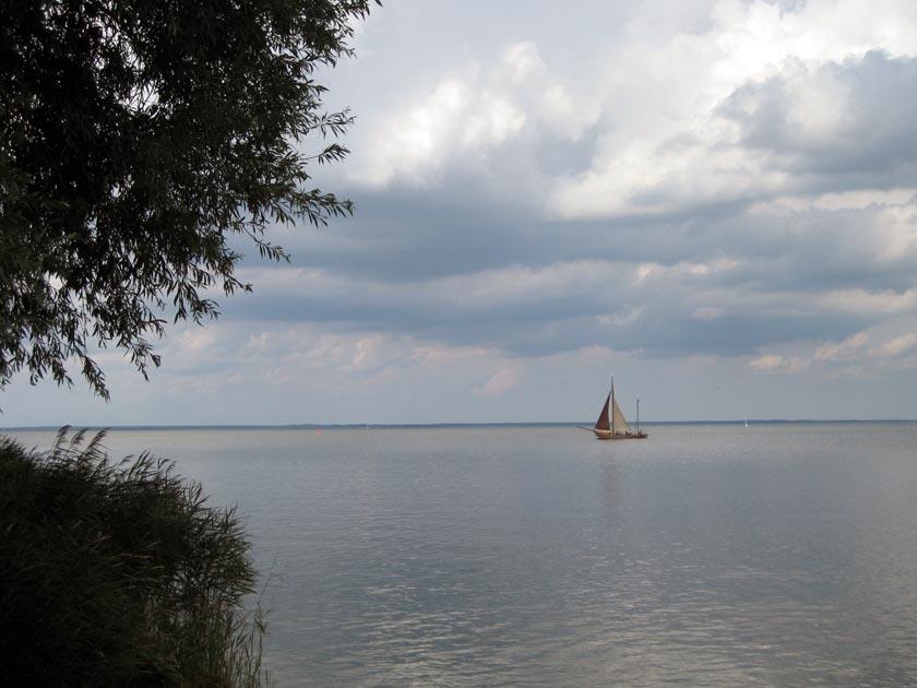 Blick auf das Stettiner Haff bei Ueckermünde an der Ostee