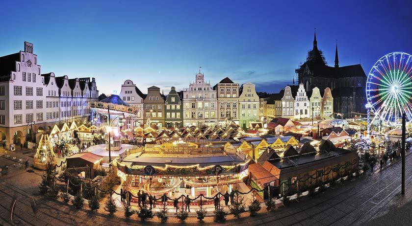 Der Weihnachtsmarkt in Rostock - Foto: Th. Ulrich/Großmarkt Rostock GmbH